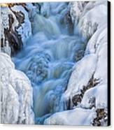 Winter Sunrise Great Falls Canvas Print by Bob Orsillo