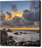 Winter Sunset At Patrick's Point Canvas Print by Greg Nyquist