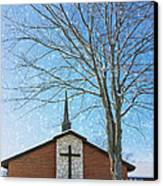 Winter Worship Canvas Print by Bill Tiepelman
