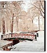 Winter's Bridge Canvas Print by Marty Koch