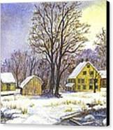 Wintertime In The Country Canvas Print by Carol Wisniewski