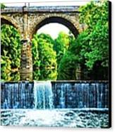 Wissahickon Falls Canvas Print by Bill Cannon