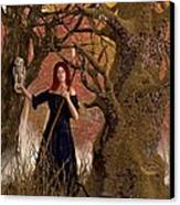 Witch Of The Autumn Forest  Canvas Print by Daniel Eskridge