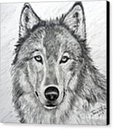 Wolf Canvas Print by Julie Brugh Riffey