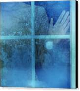 Woman At A Window Canvas Print by Jill Battaglia