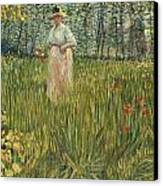 Woman In A Garden Canvas Print by Vincent van Gogh