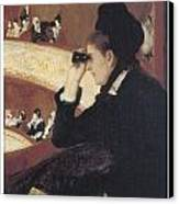 Woman In Black At The Opera Canvas Print by Mary Cassatt
