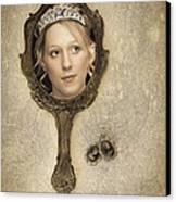 Woman In Mirror Canvas Print by Amanda Elwell