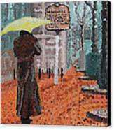 Woman With Umbrella Canvas Print by Robert Yaeger