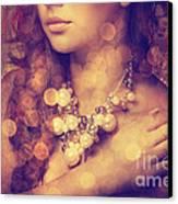 Woman's Decollete Canvas Print by Jelena Jovanovic