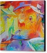Women Out Canvas Print by Nelya Shenklyarska