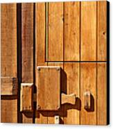 Wooden Door Detail Canvas Print by Carlos Caetano