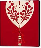 Wooden Heart Canvas Print by Anne Gilbert