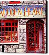 Wooden Heart Canvas Print by Ranjini Kandasamy