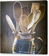 Wooden Spoons Canvas Print by Jan Bickerton