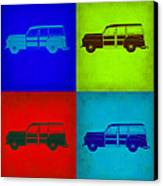 Woody Wagon Pop Art 1 Canvas Print by Naxart Studio