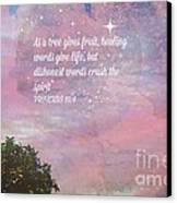Words Of Wisdom Canvas Print by Sherri  Of Palm Springs