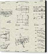 Wright Brothers Aircraft Patent Collection Canvas Print by PatentsAsArt