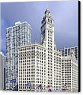 Wrigley Building Chicago Canvas Print by Christine Till
