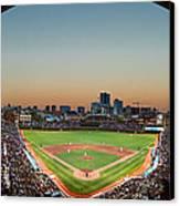 Wrigley Field Night Game Chicago Canvas Print by Steve Gadomski