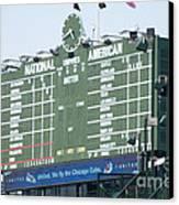 Wrigley Field Scoreboard Sign Canvas Print by Paul Velgos