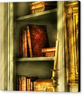 Writer - In The Library  Canvas Print by Mike Savad