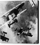 Wwi German British Dogfight Canvas Print by Nypl