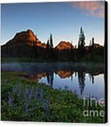 Yakima Peak Sunrise Canvas Print by Mike  Dawson