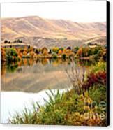Yakima River Autumn Canvas Print by Carol Groenen