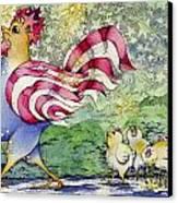 Yankee-doodle-doo Canvas Print by Linda Shelton