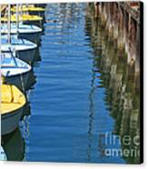 Yellow And Blue Sailboats From The Book My Ocean Canvas Print by Artist and Photographer Laura Wrede