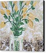 Yellow Bouquet Canvas Print by Molly Roberts