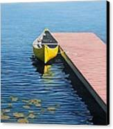 Yellow Canoe Canvas Print by Kenneth M  Kirsch