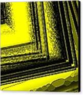Yellow Over Yellow Art Canvas Print by Mario Perez