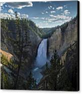 Yellowstone River Lower Falls Canvas Print by Michael J Bauer