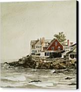 York Beach Canvas Print by Monte Toon