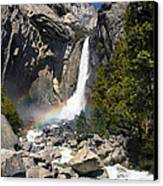 Yosemite Falls Rainbow Canvas Print by Jane Rix
