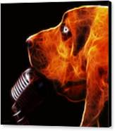You Ain't Nothing But A Hound Dog - Dark - Electric Canvas Print by Wingsdomain Art and Photography
