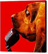 You Ain't Nothing But A Hound Dog - Red - Electric Canvas Print by Wingsdomain Art and Photography