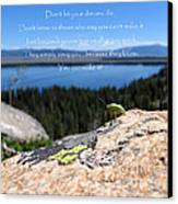 You Can Make It. Inspiration Point Canvas Print by Ausra Huntington nee Paulauskaite