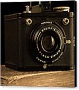 You Push The Button We Do The Rest Kodak Brownie Vintage Camera Canvas Print by Edward Fielding