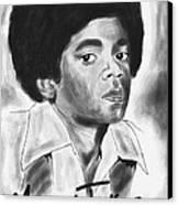 Young Michael Jackson Canvas Print by Pierre Louis