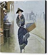 Young Parisian Hatmaker Canvas Print by Jean Beraud