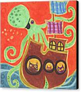 You've Been Pirated Canvas Print by Kate Cosgrove