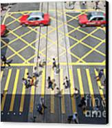 Zebra Crossing - Hong Kong Canvas Print by Matteo Colombo