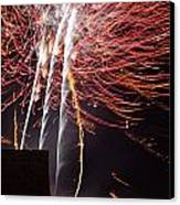 Bastille Day Fireworks Canvas Print by Sami Sarkis
