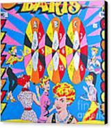 Girl Darts Canvas Print by Beth Saffer