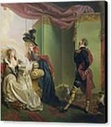 Malvolio Before Olivia - From 'twelfth Night'  Canvas Print by Johann Heinrich Ramberg