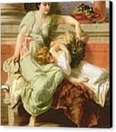 Pompeii Canvas Print by Alfred W Elmore
