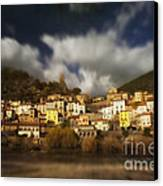 Roquebrun Canvas Print by Paul Grand
